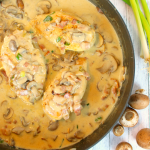 Creamy Skillet Chicken with Mushrooms & Bacon