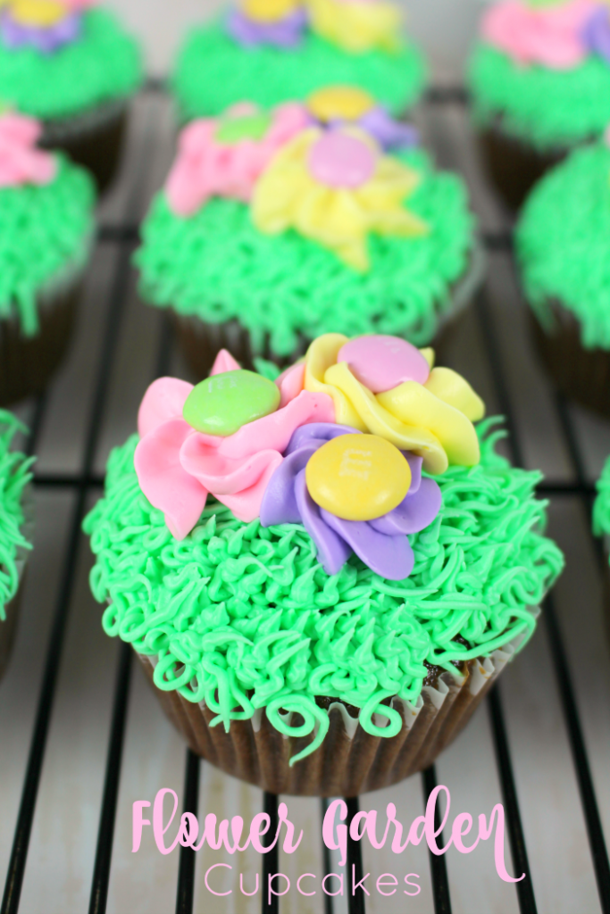 Flower Garden Cupcakes - Delightful E Made
