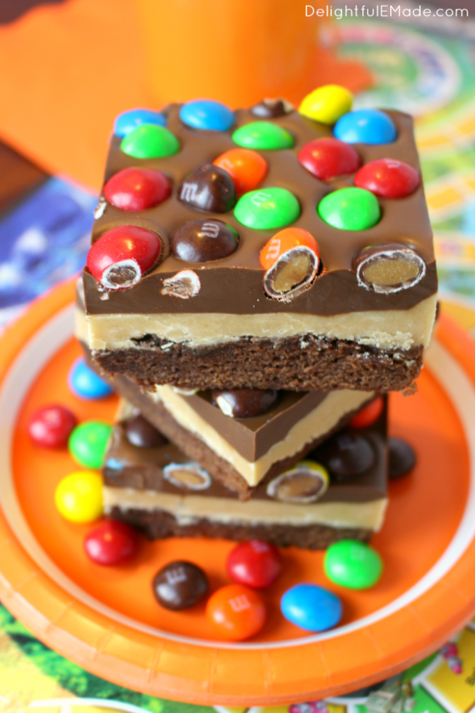 Peanut Butter Lovers Brownie Bars - Delightful E Made