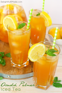 Iced tea and lemonade come together for one refreshing, delicious drink! Named after the legendary golfer, this classic summertime beverage is perfect for sipping after 18-holes, or anytime you want to cool off on a hot day!