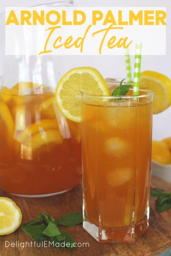 Wondering how to make an Arnold Palmer? This classic Arnold Palmer Iced Tea can be made both spiked or virgin.  Named after the legendary golfer, an Arnold Palmer drink is perfect for sipping after a round of golf, or anytime you want to cool off on a hot day!
