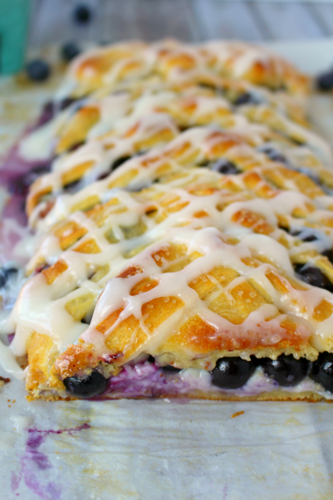 Blueberry Cream Cheese Breakfast Braid, shared by Delightful E Made at The Chicken Chick's Clever Chicks Blog Hop