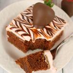 Chocolate Covered Strawberry Chocolate Cake