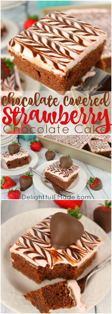 Chocolate And Strawberries Have Never Been More Delightful Moist Delicious Chocolate Cake Topped With