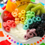 Rainbow Fruit and Yogurt Breakfast Bowls