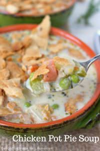 Chicken Pot Pie Soup at Lil' Luna