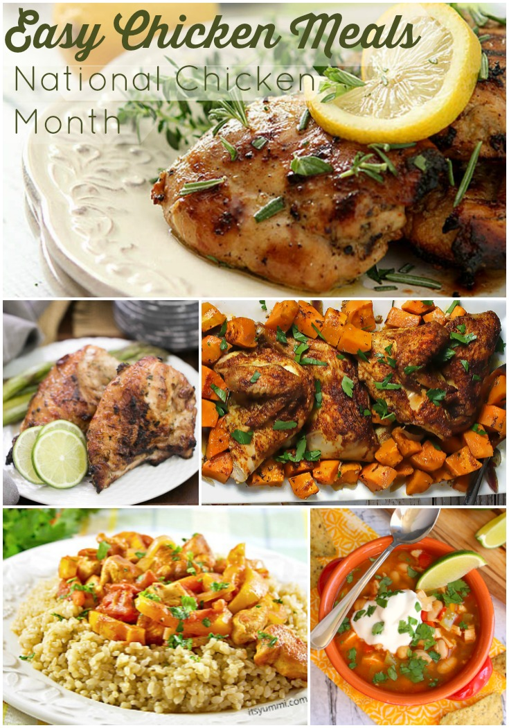 When it comes to easy dinner solutions, chicken always seems to be at the top of the list! In honor of National Chicken Month, I've got some amazing chicken recipes, perfect for busy nights and tight budgets!