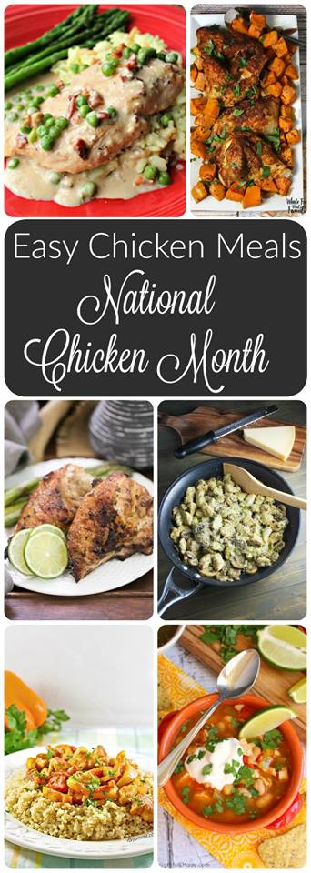 National Chicken Month - pinterest collage