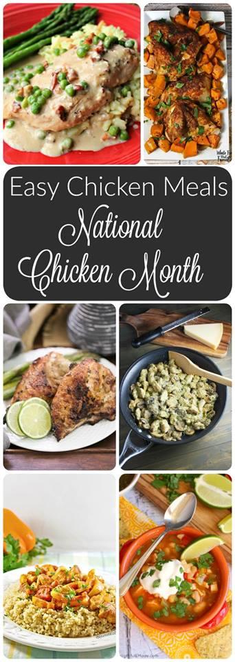 National Chicken Month - pinterest collage