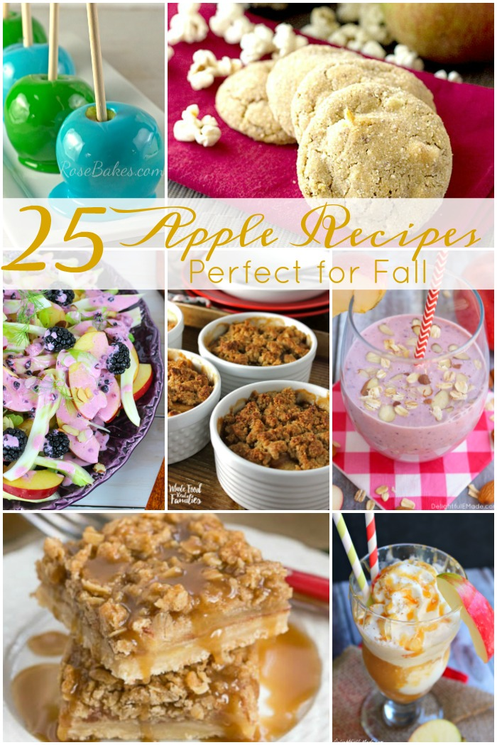 Have you gone Apple Picking yet this season?  Do you have a bounty of apples just waiting for you to turn them into something delicious? We've got 25 delicious fall apple recipes perfect for celebrating National Apple Month this October!