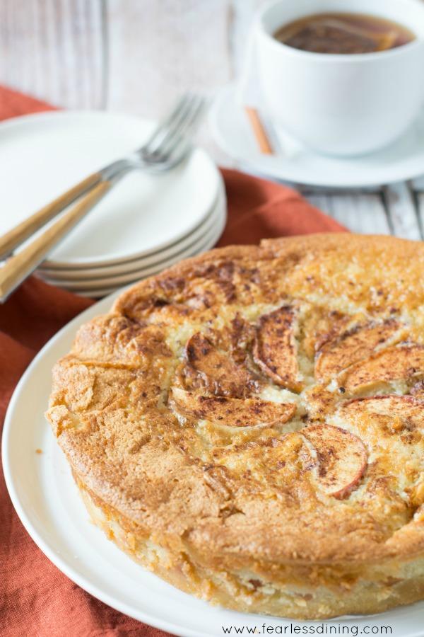 Fool Proof Gluten Free Creamy Apple Cake