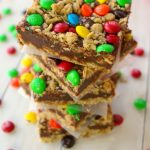 Fudgy M&M Magic Bars