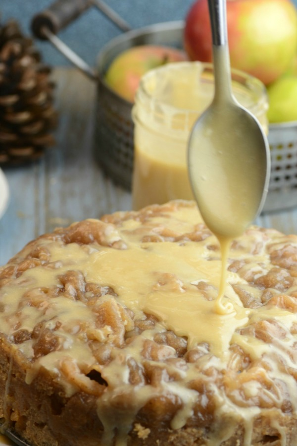 InstaPot Apple Bread with Salted Caramel Icing