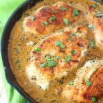 One Skillet Spinach & Artichoke Chicken
