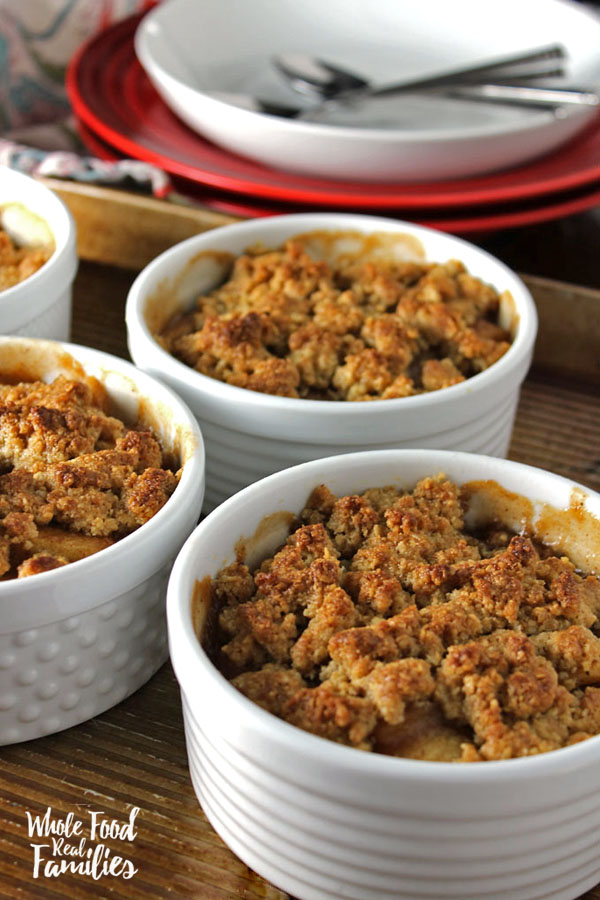 Whole Grain Apple Crumble by Whole Food Real Families