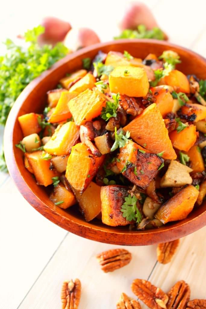 Roasted Butternut Squash Medley, shared by Delightful E Made at The Chicken Chick's Clever Chicks Blog Hop