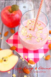 Apple Cherry Almond Breakfast Smoothie by Delightful E Made