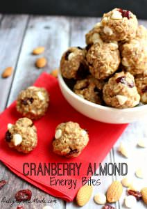 Cranberry Almond Energy Bites by Delightful E Made