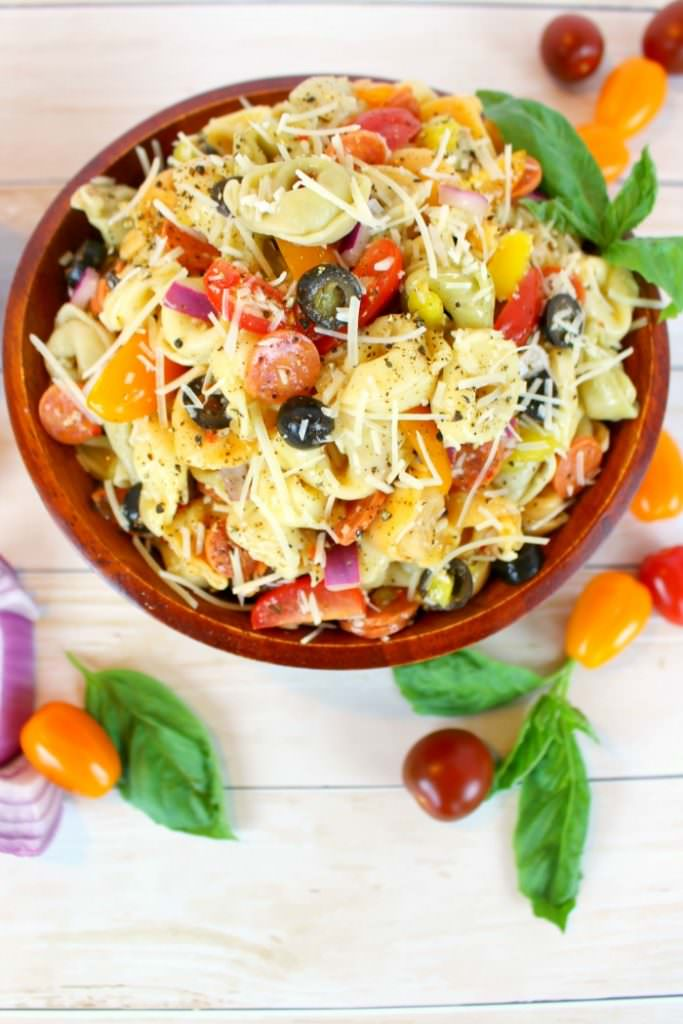 Italian Tortellini Salad - 2016 Reader Favorite Recipes by Delightful E Made