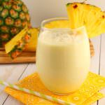 Pina Colada Smoothie Two Ways: Breakfast or Cocktail