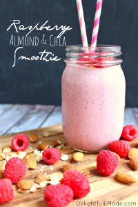 Raspberr Almond Chia Smoothie by Delightful E Made
