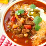 Hearty Chipotle Steak Chili