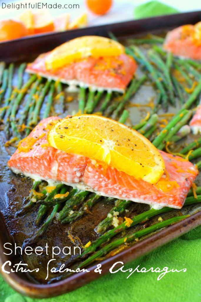 Sheet Pan Citrus Salmon & Asparagus