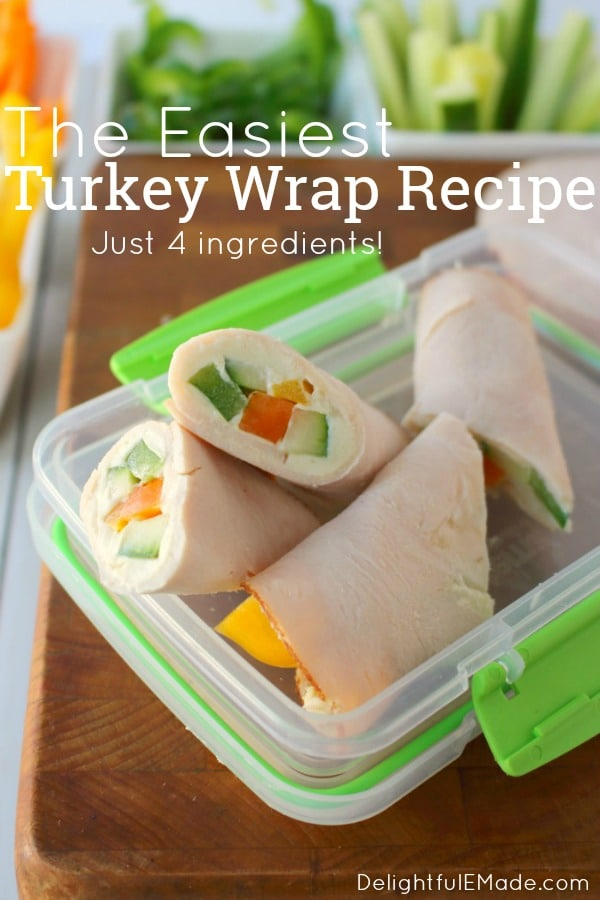 These easy 4-ingredient turkey wraps are the ultimate healthy snack or light lunch when you're looking to make healthier choices! With no tortilla, these are a great turkey wrap recipe.Just 1 Weight Watchers Freestyle Point!!