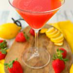 Strawberry Lemon Drop Cocktail