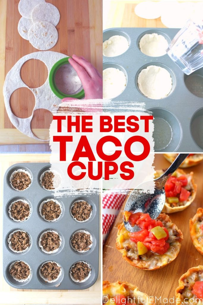 How to make taco cups, easy mini tacos recipe. Step by step photos for how to make taco cups.