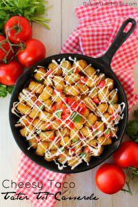 Cheesy Taco Tater Tot Casserole - Delightful E Made