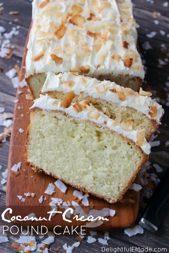 The ultimate coconut pound cake recipe! Made with coconut cream, and sweetened flake coconut this ultra-moist pound cake is a must-make for every coconut lover. Perfect for Easter Brunch, Mother's Day or anytime you're in the mood for an amazing coconut dessert!