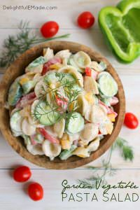 Garden Vegetable Pasta Salad by Delightful E Made
