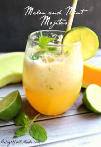 Melon and Mint Mojitos by Delightful E Made