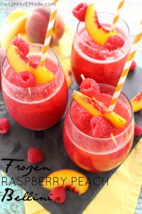 Frozen Raspberry Peach Bellini by Delightful E Made