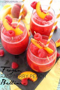 Frozen Raspberry Peach Bellini by Delightful E Made