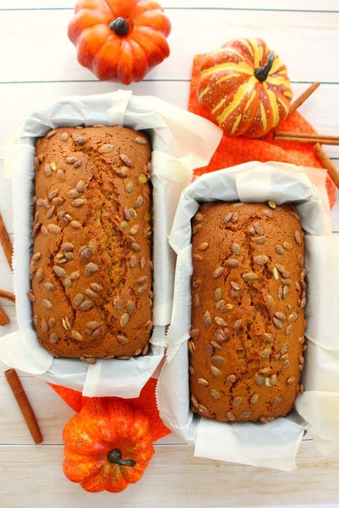 If you're looking for an amazing pumpkin bread recipe, look no further! This Better Than Starbucks Pumpkin Loaf tastes amazing, is easy to make and the perfect treat to enjoy with your Pumpkin Spice Latte!