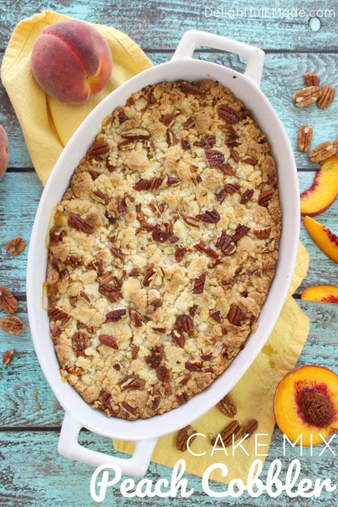 Cake Mix Peach Cobbler Delightful E Made