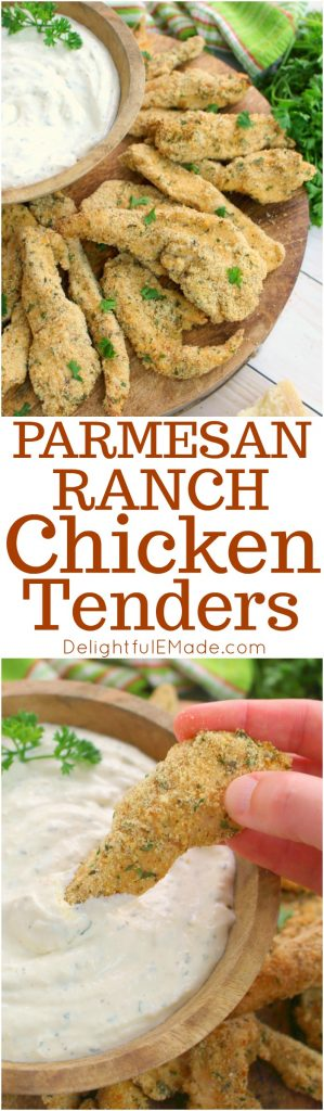 Do your kids eat chicken tenders like they're going out of style? Then these baked Parmesan Ranch Chicken Tenders are definitely for you! Baked with a Parmesan ranch coating, these chicken tenders are easy to make and come out of the oven crispy and loaded with flavor!