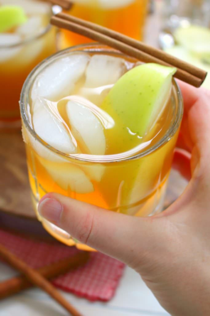 If you love hard cider, or imbibing in the occasional bourbon, this Whiskey Apple Cider Cocktail will be your new favorite drink! Made with hard cider, apple cider, bitters and a shot of good whiskey or bourbon, this cocktail has all the amazing flavors of fall!