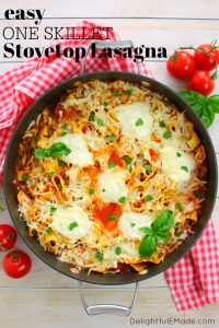 Need a quick and easy dinner solution? This One Skillet Stove Top Lasagna is perfect for busy weeknights when you're rushed for time. Made with everyday staples from ALDI, this delicious and simple pasta recipe will be a new favorite with everyone in your family!