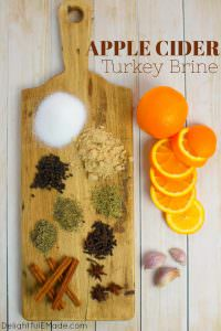 Want to know how to add extra flavor and moisture to your Thanksgiving turkey? This Apple Cider Turkey Brine recipe is the key to roasting the most amazing bird! Made with apple cider, brown sugar, spices and herbs, this turkey brine recipe will be your new go-to for every holiday meal!