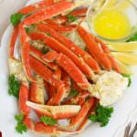 Oven Baked Snow Crab Legs