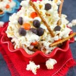 Melted Snowman Popcorn Snack Mix