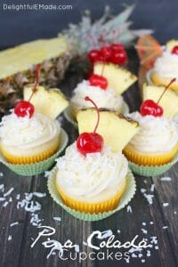 Pina Colada Cupcakes by Delightful E Made