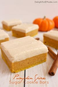 Pumpkin Spice Sugar Cookie Bars by Delightful E Made