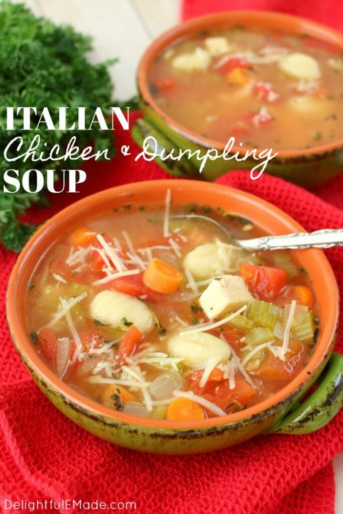 Italian Chicken and Dumpling Soup