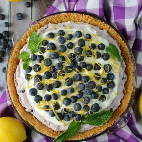 Even easier than pie, this Creamy Blueberry Pie is the perfect spring and summer dessert! Made with an incredible no-bake creamy blueberry filling, this delicious blueberry dessert is perfect for just about any occasion!
