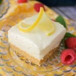 No Bake Lemon Cheesecake Bars #EasterSweetsWeek