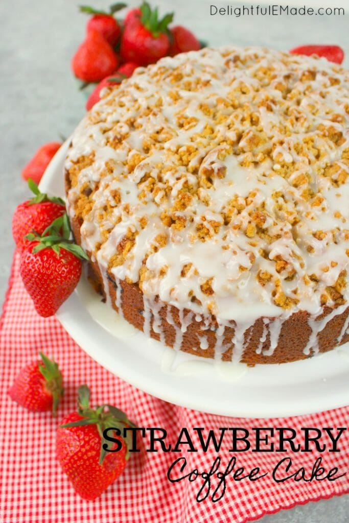 Strawberry Coffee Cake Delightful E Made
